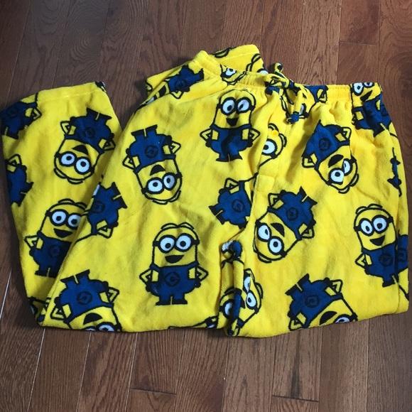 8fa15f965371f0 Despicable Me Minions fleece lounge pants XL